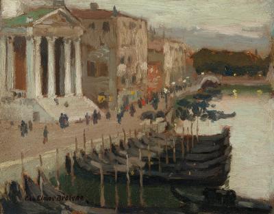 George Elmer Browne Evening in Venice