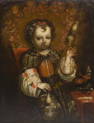 Andr s P rez Child Virgin Spinning c 1700