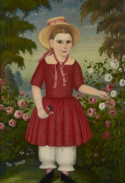 Girl in a Red Dress c 1850