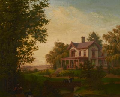 Edward Sachse American Scenery The Country House by Edward Sachse 1804 1873 circa 1865