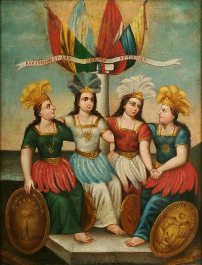 Paz I Union en las Cuatro Rep blicas c 1830