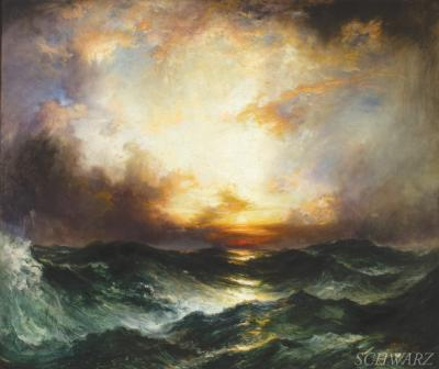 Thomas Moran Sunrise at Mid Ocean 1907