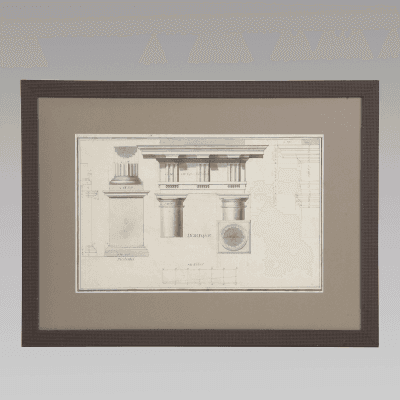 5 Early 19th Century Architectural Drawings c 1820