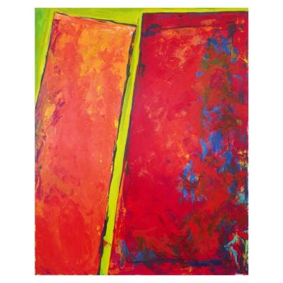 Palmira Saehrig Large Abstract Painting Contemporary Artist Palmira Saehrig c 1990