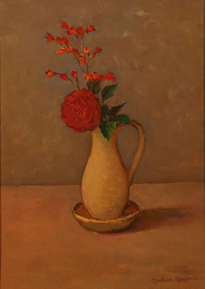 Gershon Benjamin Flower Still Life 20 c 1967