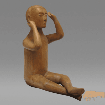 Seated Boy Sculpture