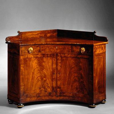 Rare Brass Mounted Mahogany Corner Commode