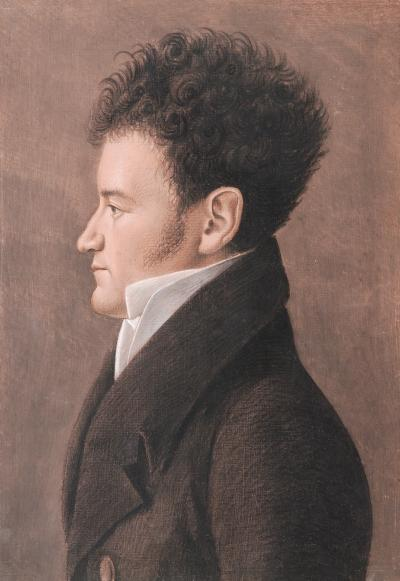 Portrait of a Young Man with Curly Hair