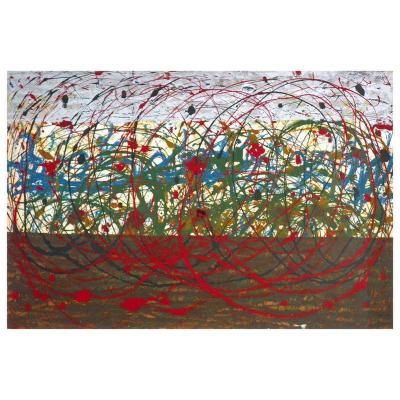 Abstract Painting by Tancredi Original Work Circa 1955
