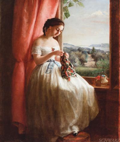 George Cochran Lambdin In a Window