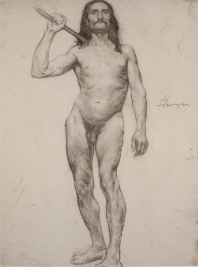 John F Flanagan COLE des BEAUX ARTS MALE WITH LONG HAIR