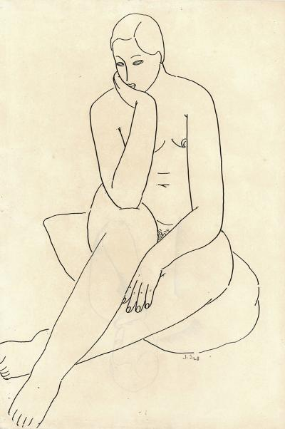 Jacques Schnier SEATED NUDE
