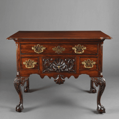 An Important Chippendale Lowboy with a Carved Shell