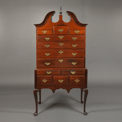 The Dall Family Queen Anne Bonnet Top Highboy