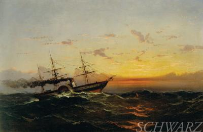 James Hamilton Steamboat at Sunset James Hamilton 1874