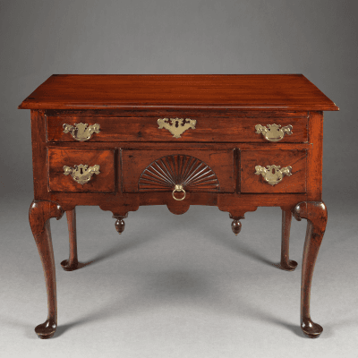 Queen Anne Lowboy with a Carved Fan Drawer