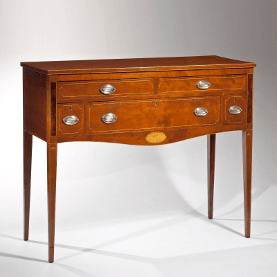 Fine Federal Inlaid Cherry Sideboard 1810