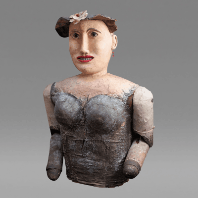 Garden Lady Folk Sculpture 1920s