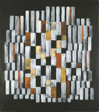 Adolph Richard Fleischmann Composition 510 Brown White Yellow