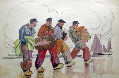 Eug ne Jim S vellec Les P cheurs Bretons Breton Fishermen