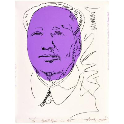 Andy Warhol Rare Andy Warhol Signed Mao Exhibition Screenprint