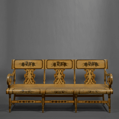 Paint Decorated Settee Eastern Pennsylvania circa 1845