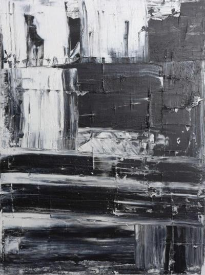 Renato Freitas Original Oil on Linen 2015 Black and White 3