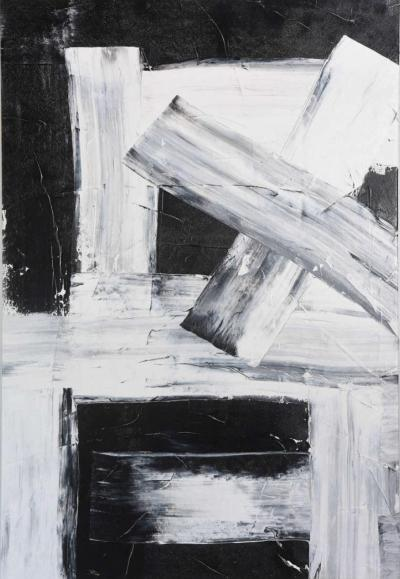 Renato Freitas Original Oil on Linen 2015 black and white 4