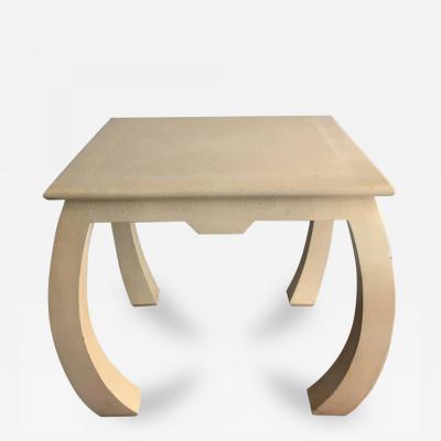 Karl Springer Shagreen Leather Table by Karl Springer Signed