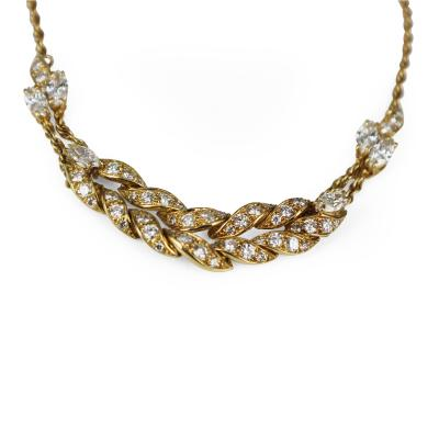 Piaget diamond and gold necklace