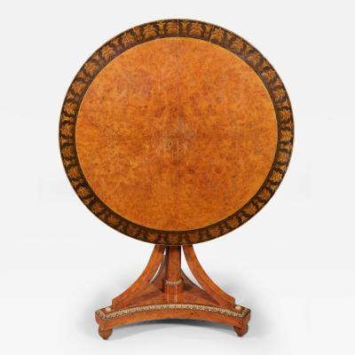 A Biedermeier Tilt Top Table Austrian ca 1820