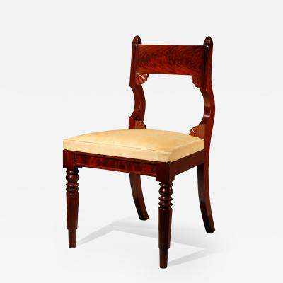 Fine and Rare Set of 12 Classical Mahogany Dining Chairs c 1830