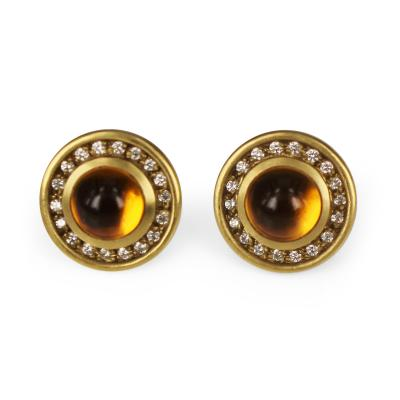 Barry Kieselstein Cord Kieselstein Cord Citrine and Diamond Earrings