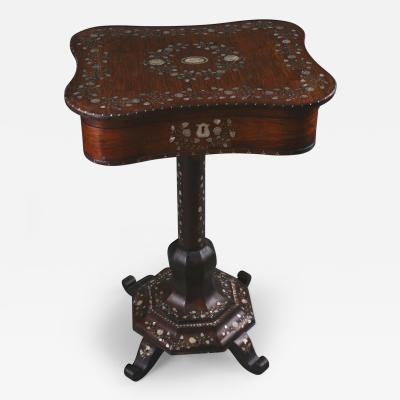 A Biedermeier Work Table German ca 1840