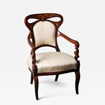 A Pair of Late Biedermeier Fauteuils Austrian ca 1840