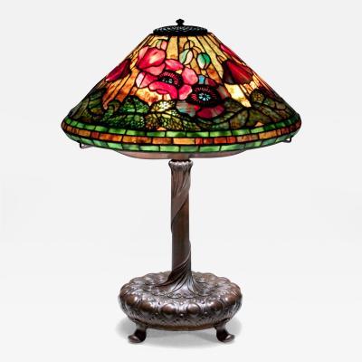 Tiffany Studios Poppy Table Lamp c 1906