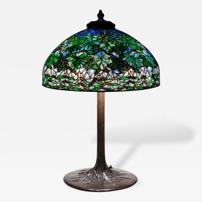 Tiffany Studios Maple Leaf Table Lamp c 1906