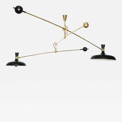 Fedele Papagni Studio Made 2 Light Mobile Fixture by Fedele Papagni