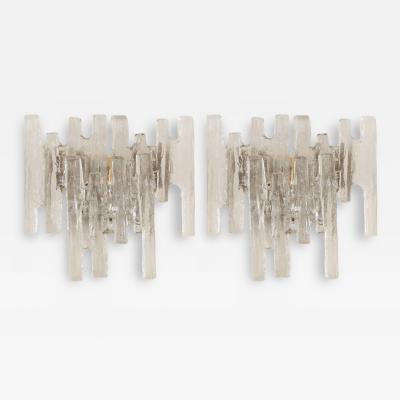 J T Kalmar Grand Scale Kalmar Ice Glass Vanity Sconce