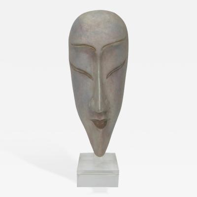 Ceramic Silver Glazed Mask