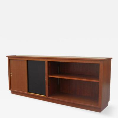 Danish Modern Cabinet Bookcase in Teak