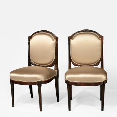 Paul Follot Pair of Paul Follot Side Chairs c 1920