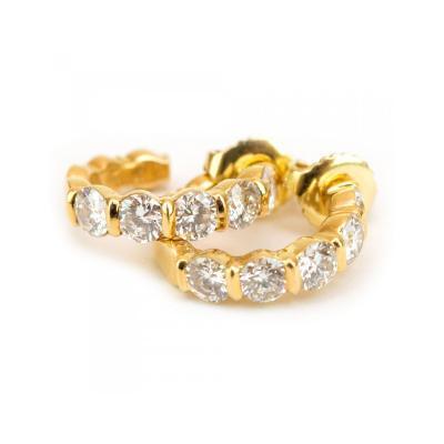 Van Cleef Arpels Van Cleef Arpels Gold and Diamond Earrings