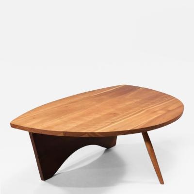 George Nakashima Early shell shaped coffee table 1945