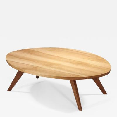 George Nakashima Early Oval Coffee Table 1950