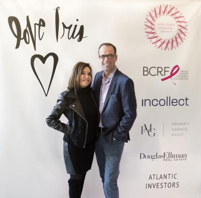 Holiday House founder Iris Dankner and Incollect founder John Smiroldo; Incollect is the Presenting Sponsor of Holiday House, NYC.