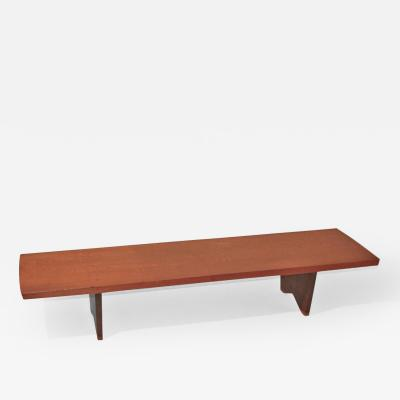 George Nakashima Bracket Bench Coffee Table