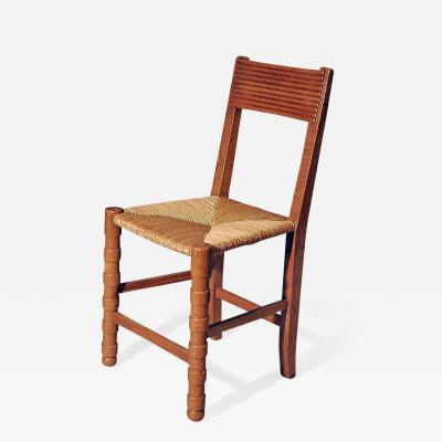 Maurice Dufr ne Set of 6 Oak Chairs by Maurice Dufrene c 1920