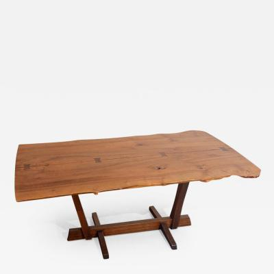 George Nakashima Very Rare Bloody Birch Conoid Dining Table
