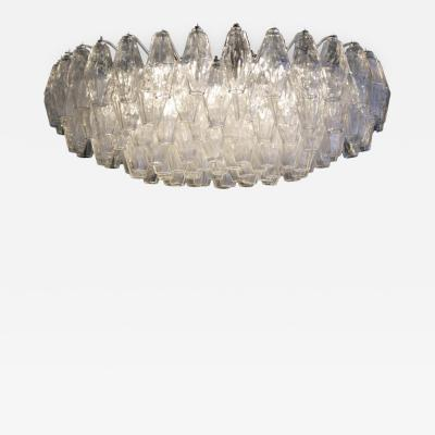 Venini Polyhedral Chandelier by Carlo Scarpa for Venini Italy c 1950